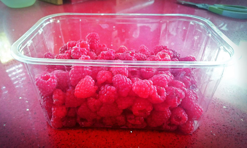 Home Grown Raspberries - Gallery Image