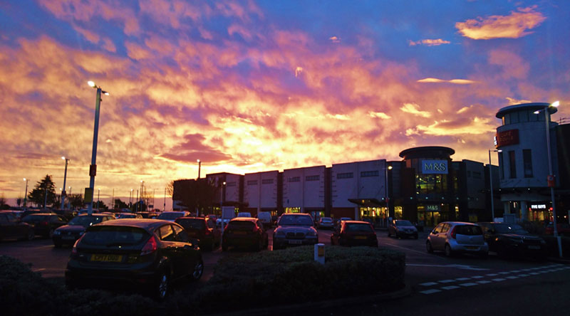 Kent coast sunsets even make a car park look romantic! - Gallery Image