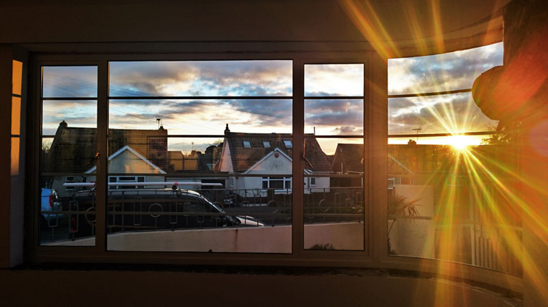 Sunset from the Hawkes Breakfast Room - Gallery Image